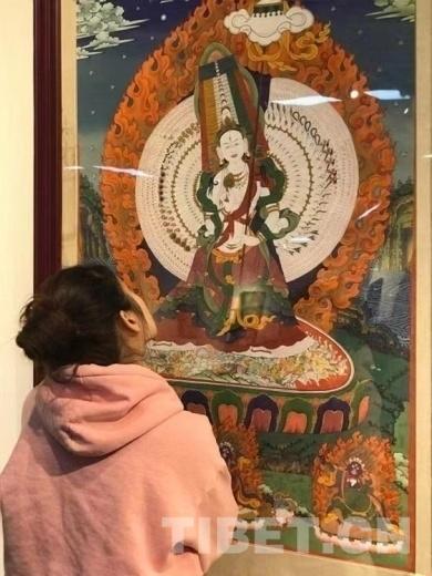 饮藏茶品藏香观坛城赏唐卡 第五届唐卡坛城艺术展开幕