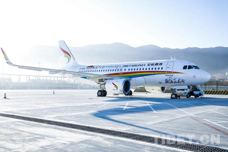 """西藏""""藏文化之源""""冠名飞机首航 促当地旅游发展"""
