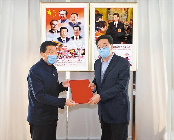 吴英杰在西藏大学传达习近平总书记重要回信精神时强调