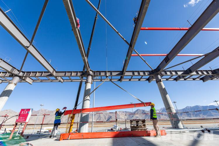 西藏拉萨贡嘎国际机场航站区改扩建工程全面复工