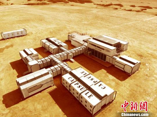 图为火星营地集装箱。 钟欣 摄