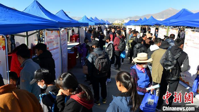 西藏舉行大型招聘會提供3500余個就業崗位