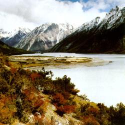 羊卓雍湖秋天的景色